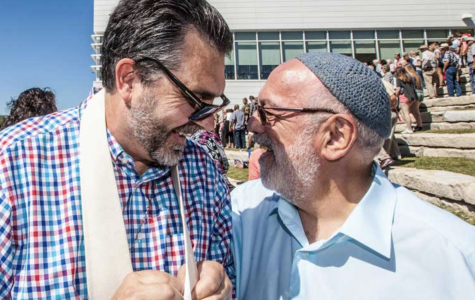 HAVING FAITH IN EACH OTHER: Members from Tri-Faith's mosque, synagogue, and church join together to strengthen interfaith relationships and cooperation. The construction of the houses of worship finished in April, 2019, and the founders aim to finish the Tri-Faith Center, the final piece of the initiative, in 2020.