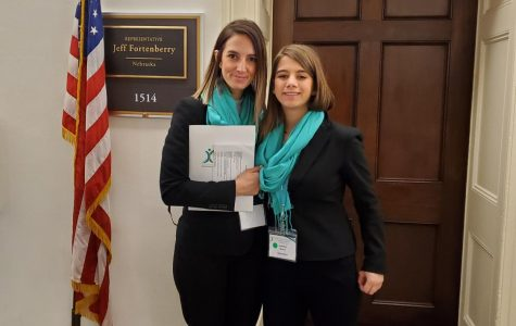 Freshman Natalie Burd and mother Alesha Smith traveled to D.C. for National Advocacy Day, March 4. The two advocated for several bills to fund TS research and spoke with NE state representatives.