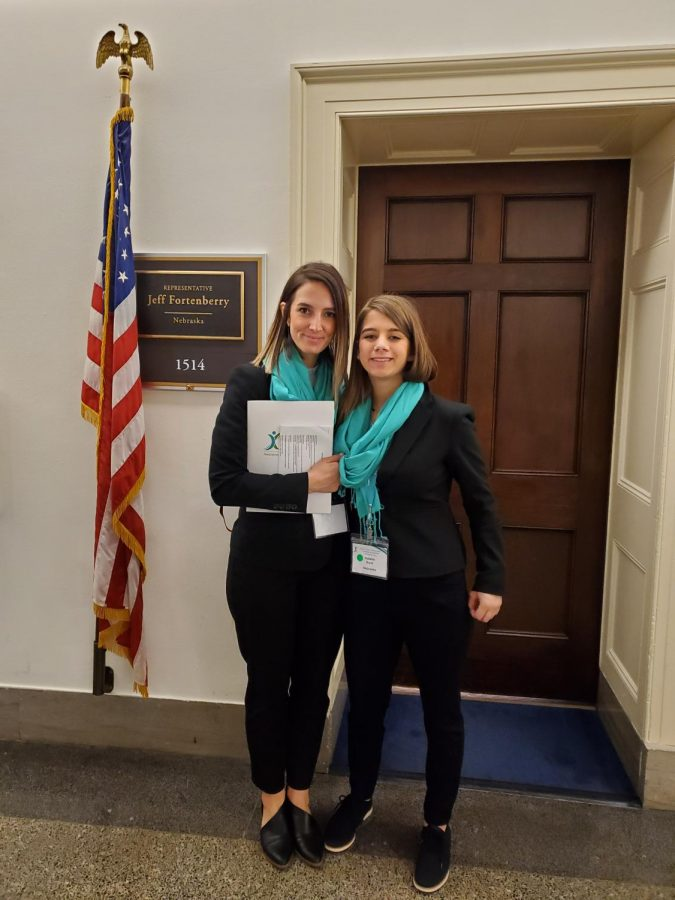 Freshman+Natalie+Burd+and+mother+Alesha+Smith+traveled+to+D.C.+for+National+Advocacy+Day%2C+March+4.+The+two+advocated+for+several+bills+to+fund+TS+research+and+spoke+with+NE+state+representatives.